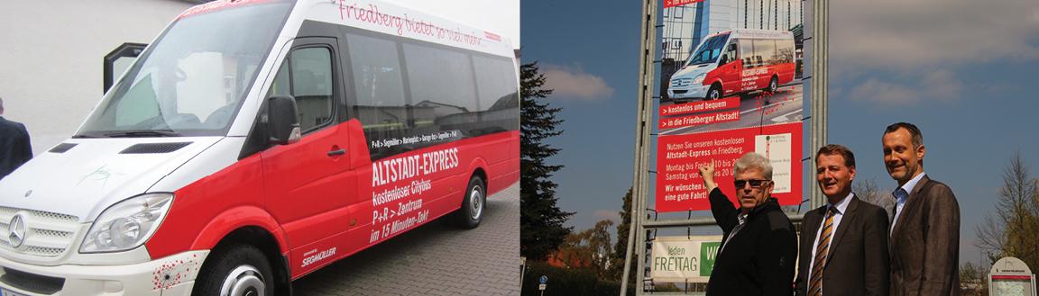 Kostenlos mit dem Bus-Shuttle nach Friedberg