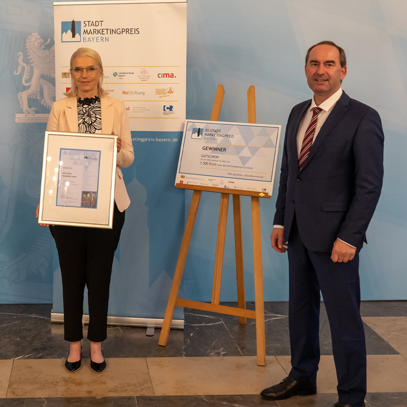 Stadtmarketingpreis Bayern geht nach Friedberg
